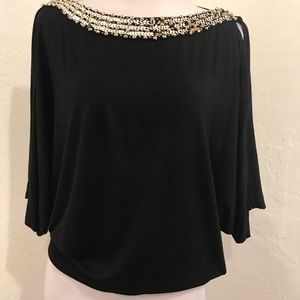 GUESS BY MARCIANO black beaded top sexy Small Sm S